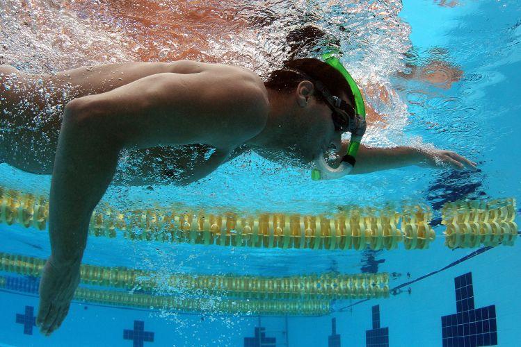 Rodrigo Castro e toda a equipe da natação brasileira fazem preparação para o Pan-Americano de Guadalajara no CT de La Loma, no México