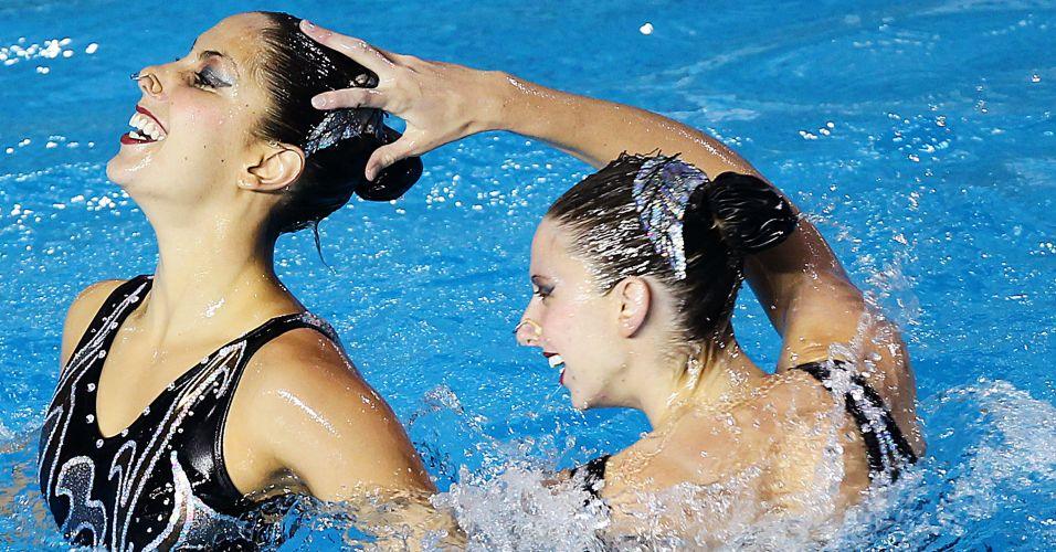 O dueto brasileiro somou 177,413 pontos, nas apresentações técnica e livre e terminou com o bronze em Guadalajara