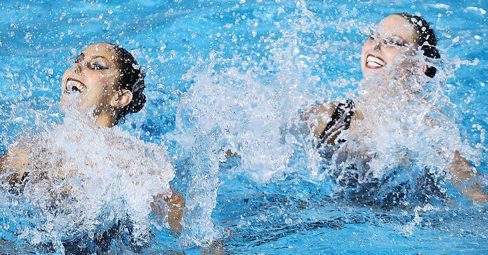A dupla fez uma apresentação sem erros e venceu o bronze no nado sincronizado