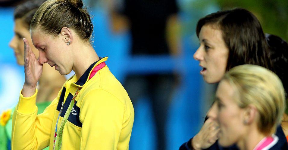 Gracielle Hermann se emociona com a medalha de prata em Guadalajara