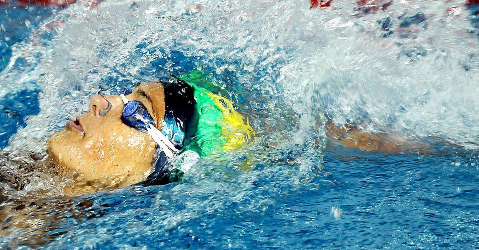 Fabíola Molina abriu o revezamento 4x100 m medley feminino do Brasil, que ficou com a medalha de bronze