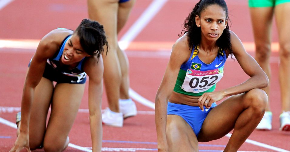 Christiane Santos, disputou a final nos 800 m, e terminou a prova em 5 lugar