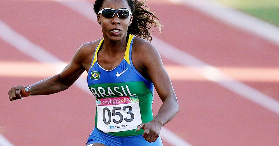 Com o tempo de 11s22, Rosângela Santos venceu os 100 m rasos em Guadalajara