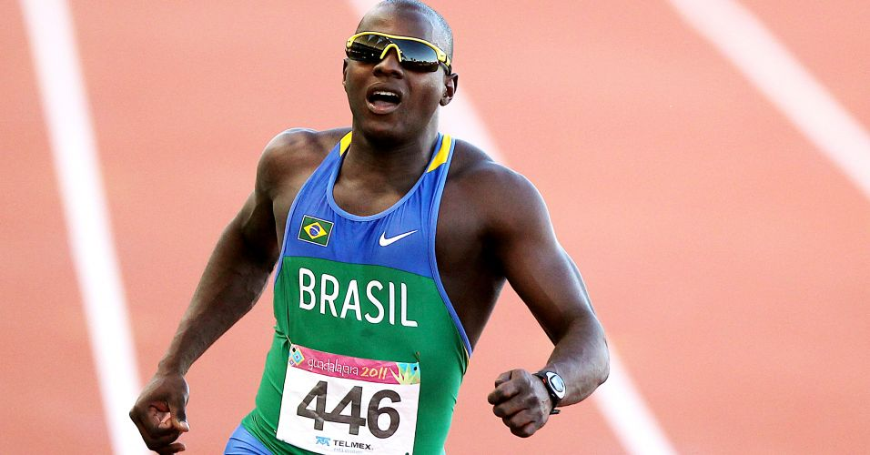 Nilson Andr disputou a final dos 100 m rasos e terminou a prova na 5 colocao