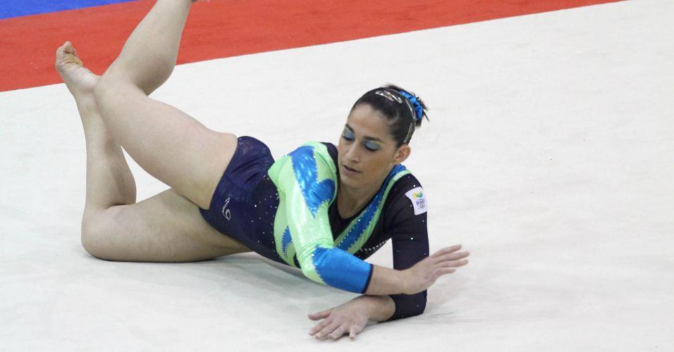 Daniele Hypolito conquistou a medalha de bronze no solo nas finais por aparelhos