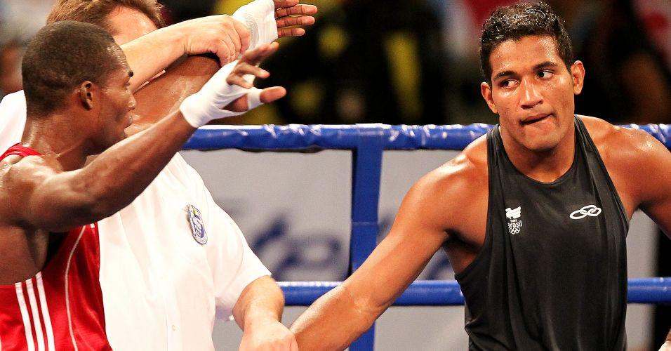 Yamaguchi Falcão vê cubano ficar com o ouro no Pan