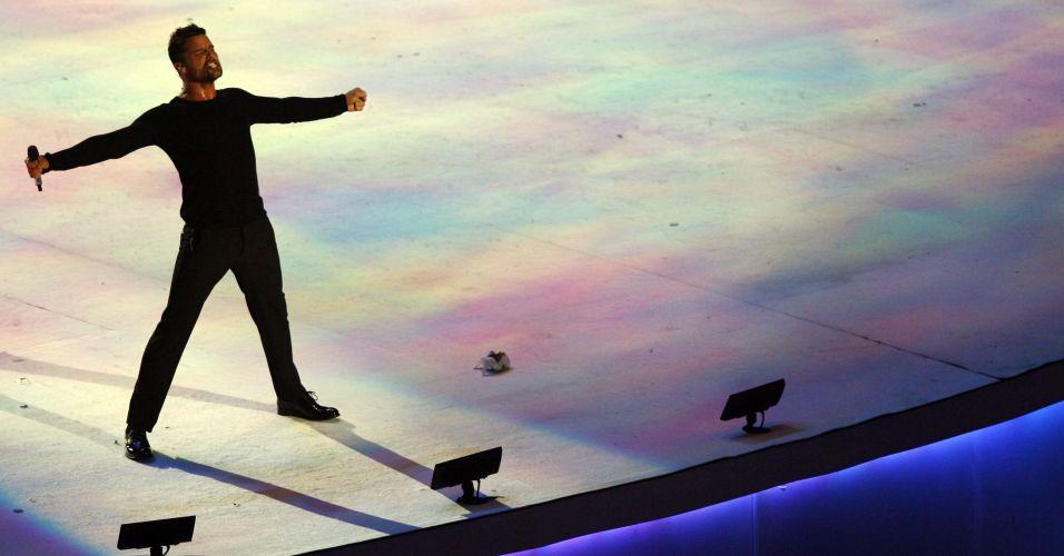Ricky Martin fez o último show da noite no estádio Omnlife, levantou o público e encerrou o Pan-Americano de 2011