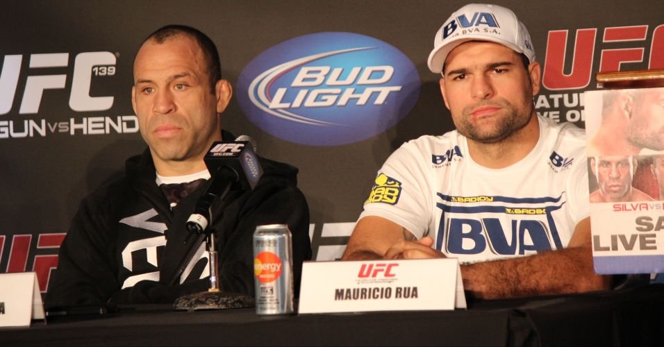 Wanderlei Silva e Mauricio Shogun participam da coletiva do UFC 139