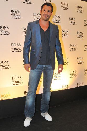 O ator Malvino Salvador esteve presente na festa da McLaren em São Paulo no último domingo