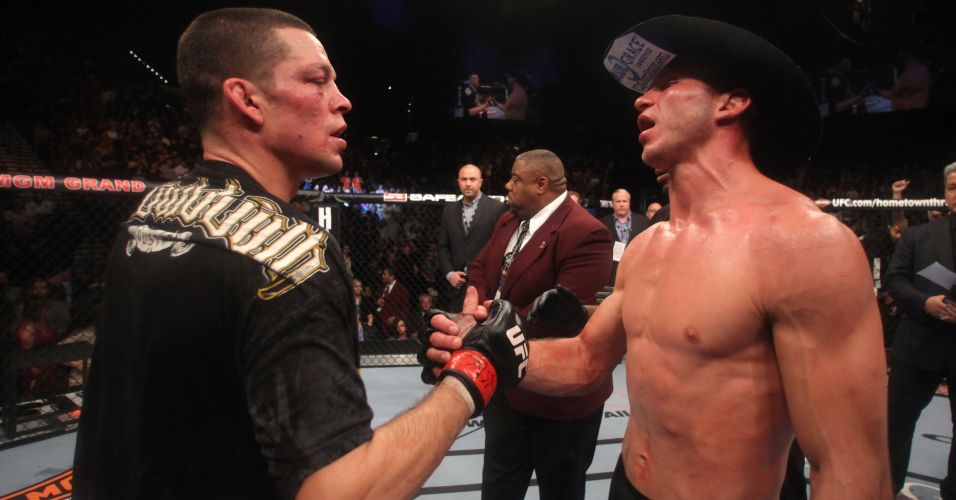 Aps muita briga antes da luta, Nate Diaz e Donald Cerrone fazem as pazes; Nate venceu por pontos no UFC 141