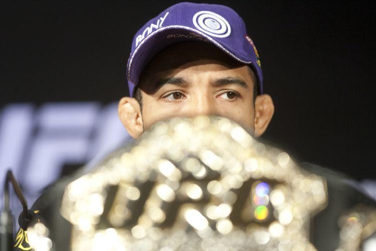 Brasileiro José Aldo concede entrevista coletiva no Rio de Janeiro para o UFC