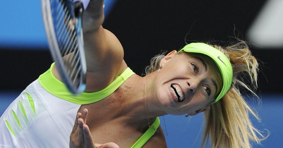 Com facilidade, principalmente no primeiro set, Maria Sharapova derrotou Angelique Kerber e avançou no Aberto da Austrália