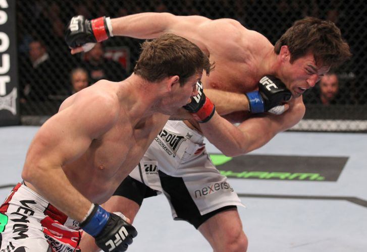 Sonnen  atingido por Bisping em um duelo duro com o ingls e vencido apenas por pontos