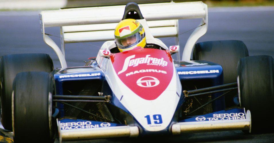 Ayrton Senna estreou na Fórmula 1 em 1984, com a Toleman