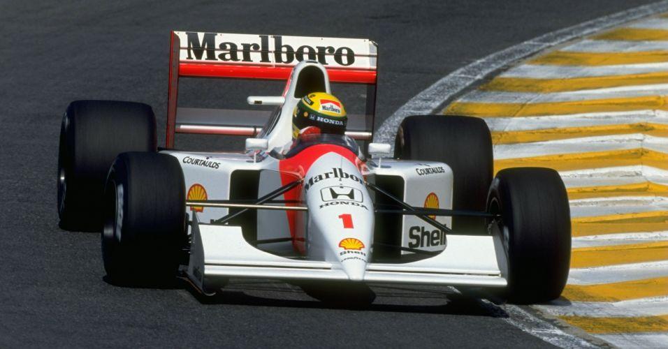 Foi com a McLaren que Ayrton Senna conquistou seus três títulos mundiais. Na foto, o modelo de 1992, um ano depois do tricampeonato