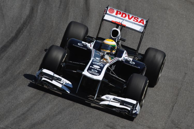 A Williams foi a ltima equipe de Rubens Barrichello na Frmula 1. Na foto, o modelo de 2011