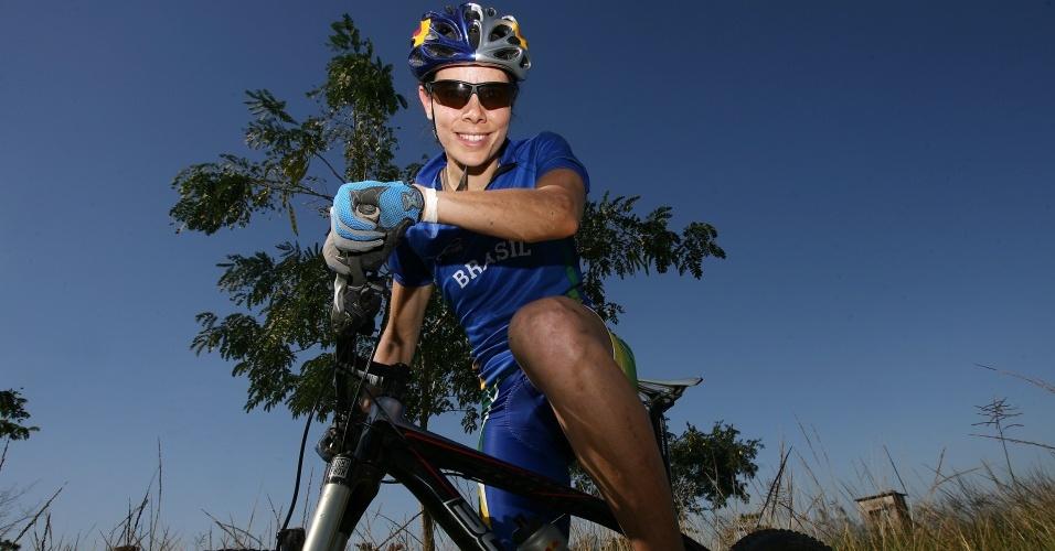 Jaquelie Mourão foi a duas Olimpíadas de Verão, no mountain bike