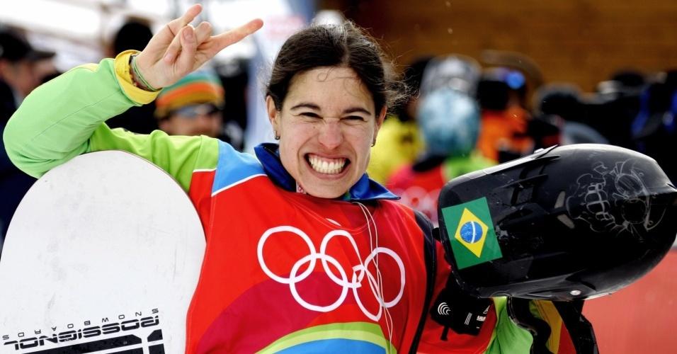 Isabel Clark, nona colocada em Turim, representará o Brasil nos Jogos de Inverno de Vancouver, em 2010, no snowboard