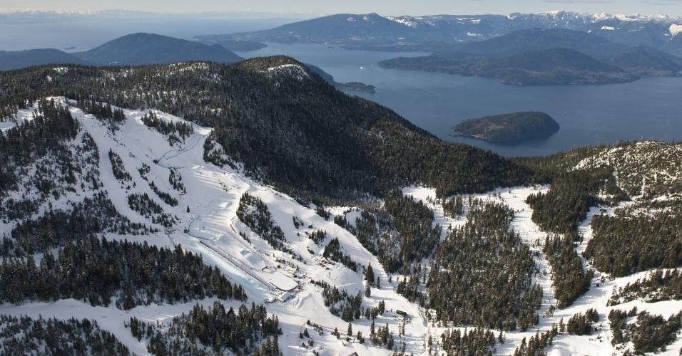 Montanha Cypress receberá competições como o esqui estilo livre, mas sofre com falta de neve