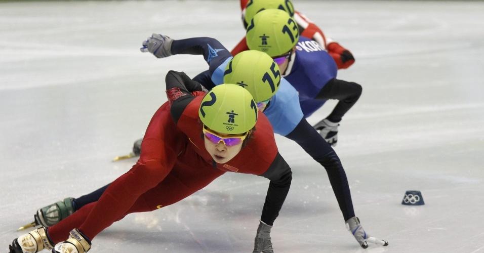 Wang Meng, da China, conquistou três ouros em Vancouver