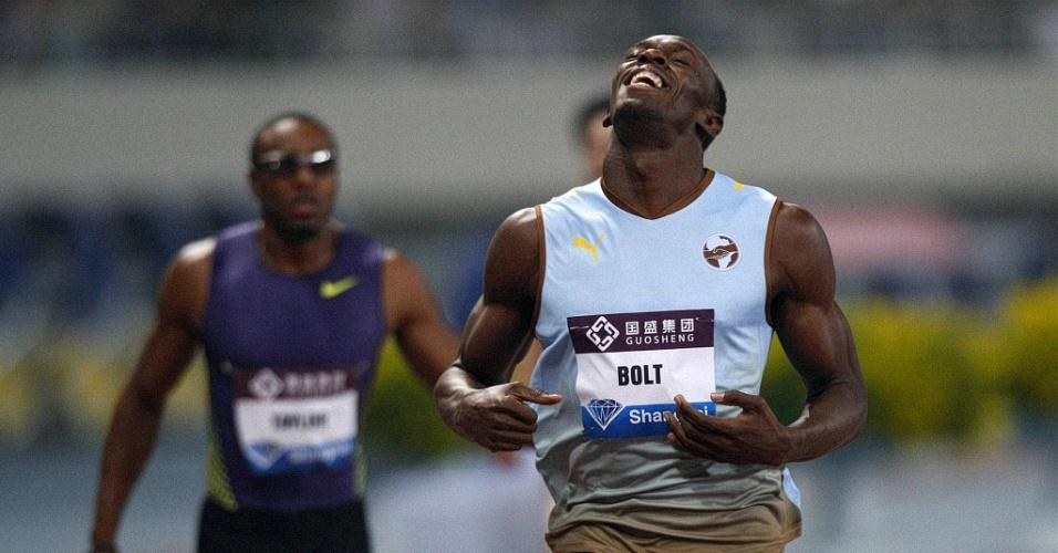 Bolt venceu sem dificuldades a disputa nos 200m da etapa de Xangai da Liga de Diamante