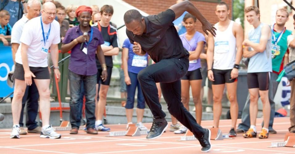 Usain Bolt realiza