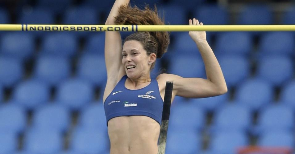 Fabiana Murer salta no GP Brasil de Atletismo, no Rio de Janeiro