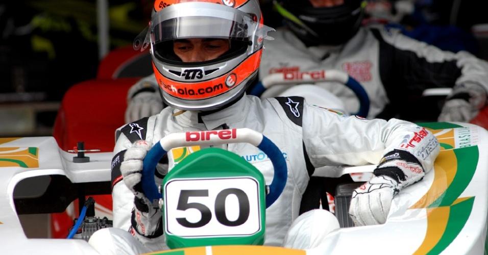 Nelsinho Piquet consegui primeira colocação do grid no Desafio das Estrelas de Kart