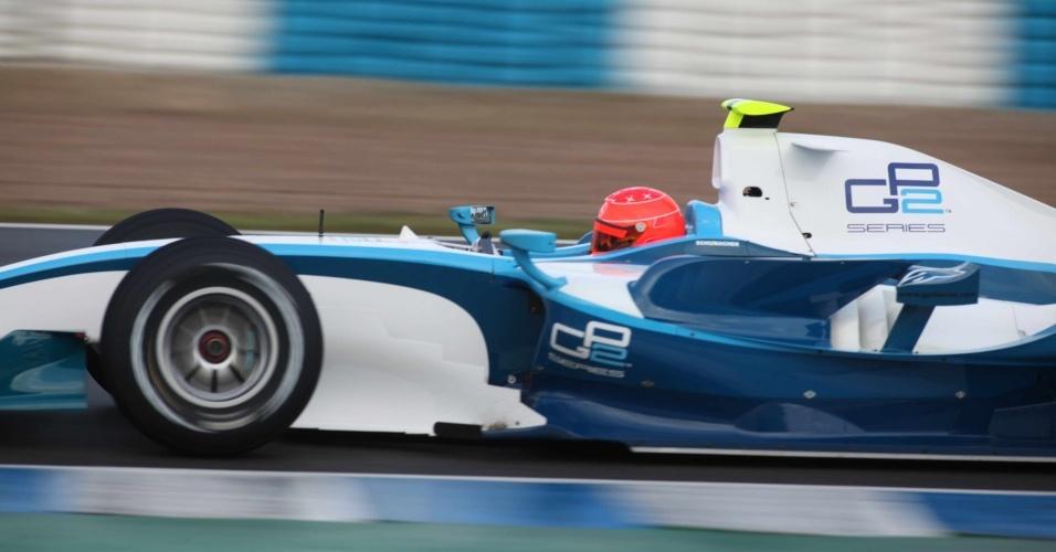 Schumacher testa com um GP2 em Jerez de La Frontera