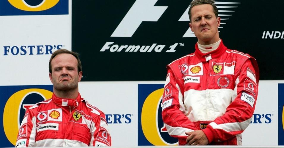 Michael Schumacher e Rubens Barrichello protagonizaram uma grande rivalidade na Ferrari