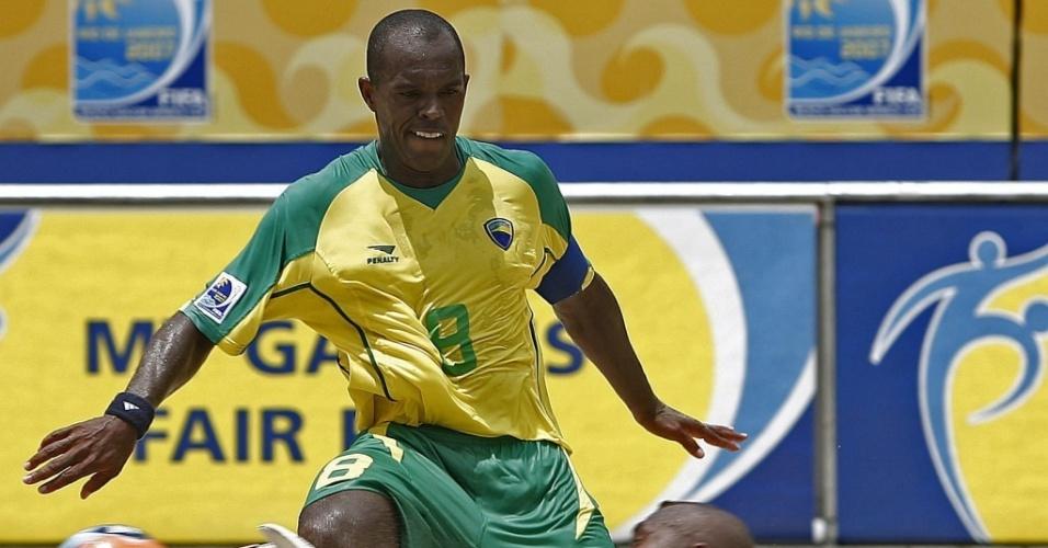 Júnior Negão quando ainda era jogador de futebol de areia