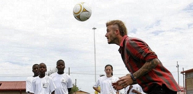Beckham visitou projeto social na frica do Sul