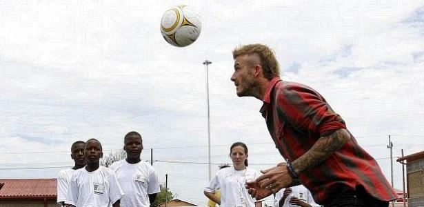 Beckham visitou projeto social na África do Sul