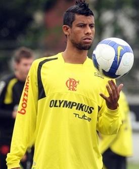 Leo Moura durante treino do Flamengo