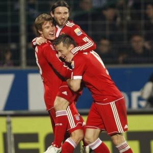 Jogadores Do Bayern De Munique  Emoram Gol No Macre Diante Do