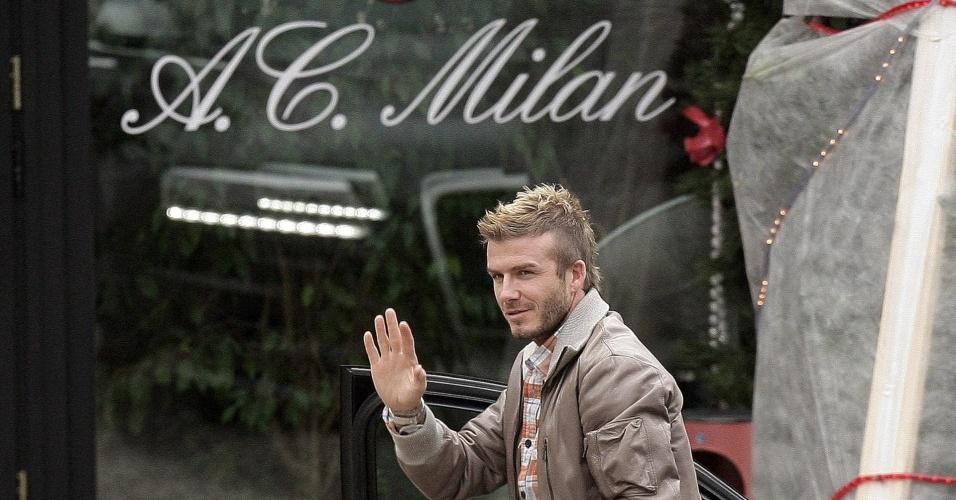 David Beckham se apresenta ao Milan em dezembro de 2009