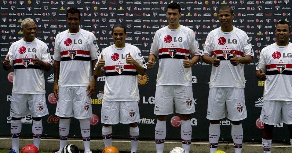 São Paulo apresenta Marcelinho Paraíba, Léo Lima, Carlinhos Paraíba, Xandão, Andre Luis e Fernandinho