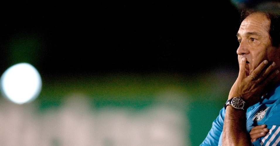 Muricy Ramalho acompanha a partida entre Palmeiras e São Caetano