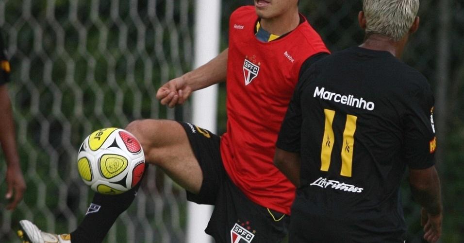 Hernanes e Marcelinho Paraíba treinam no São Paulo