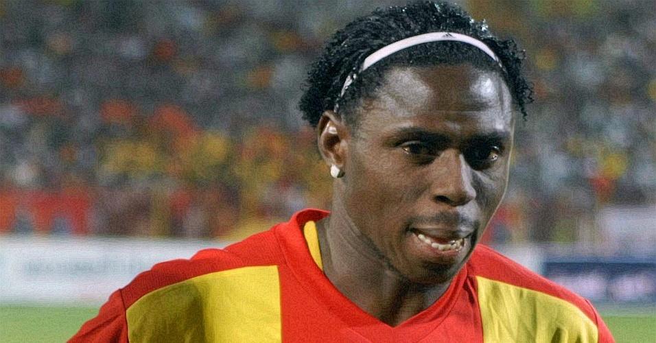Imagem de arquivo de Endurance Idahor; jogador nigeriano morreu no dia 07/03/2010 durante uma partida do Campeonato Sudanês