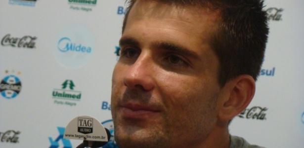 Goleiro Victor, do Grêmio, em entrevista coletiva
