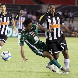 Obina se machuca em jogo do Atlético-MG