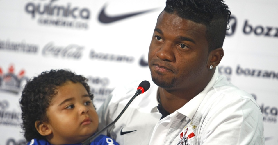 Felipe, do Corinthians, e o filho Iago