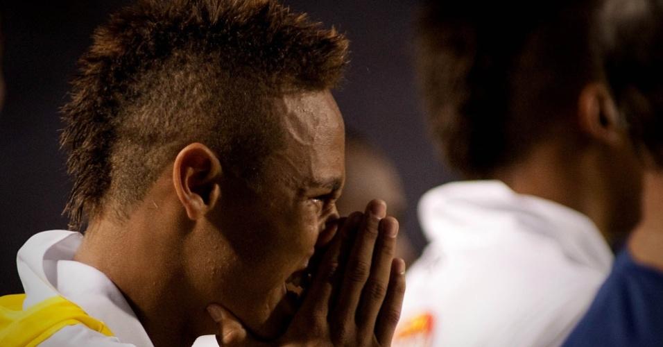 Neymar chora diante pressão do Santo André e proximidade de título do Santos no Paulista
