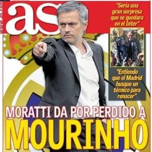 Capa do diário As destaca que Mourinho não ficará na Inter