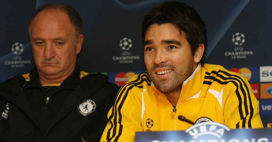 Deco e Luiz Felipe Scolari, que em 2008 eram tcnico e jogador do Chelsea