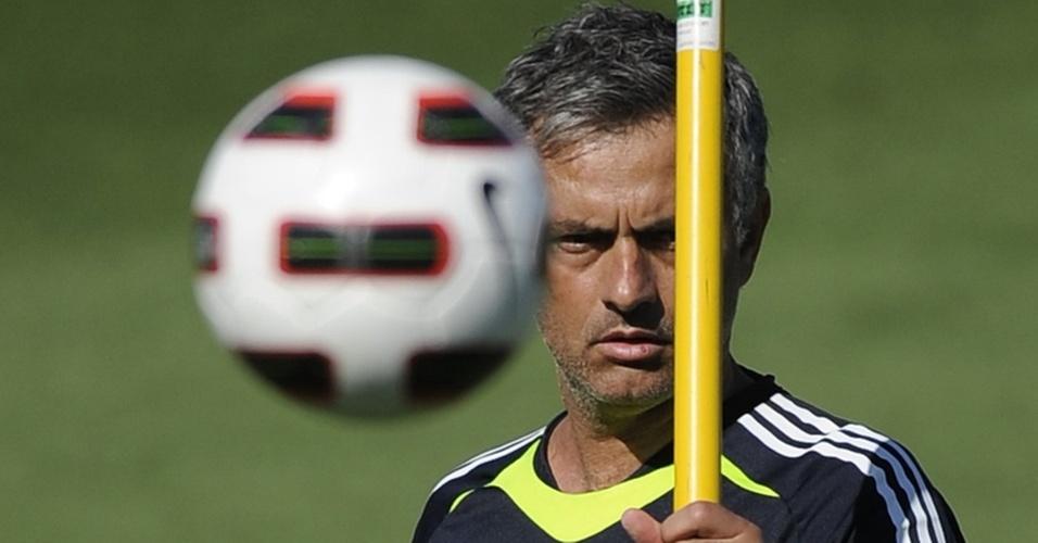 José Mourinho comanda treino no Real Madrid
