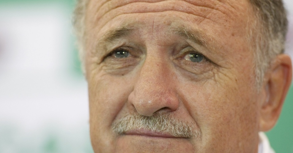 Luiz Felipe Scolari concede entrevista no Palmeiras