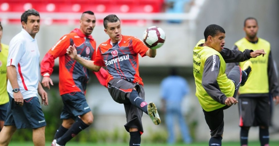 D'Alessandro e Guiñazu em treino do Inter no México