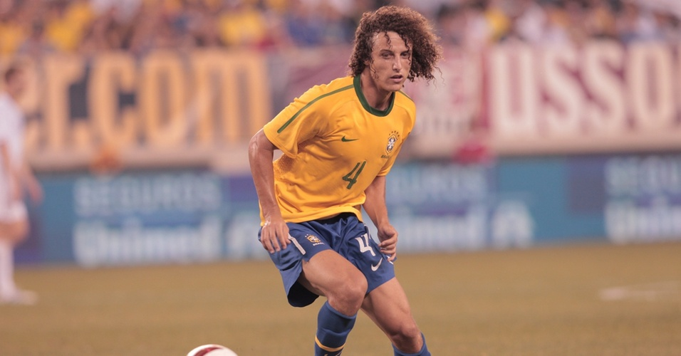 Zagueiro David Luiz estreou pela seleo brasileira no amistoso contra os Estados Unidos